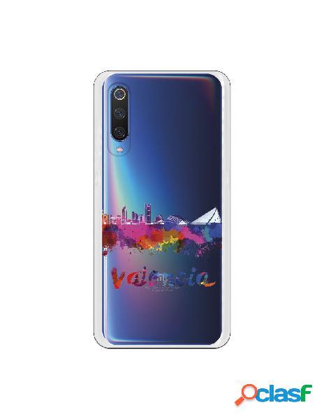 Carcasa Oficial Skyline Valencia Transparente para Xiaomi Mi
