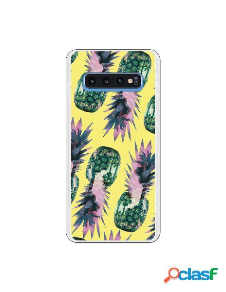 Carcasa Piñas amarillas para Samsung Galaxy S10