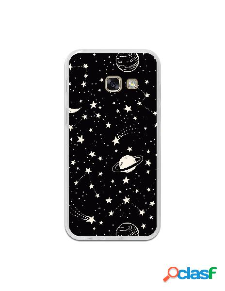 Carcasa Planetas fondo negro para Samsung Galaxy A3 2017