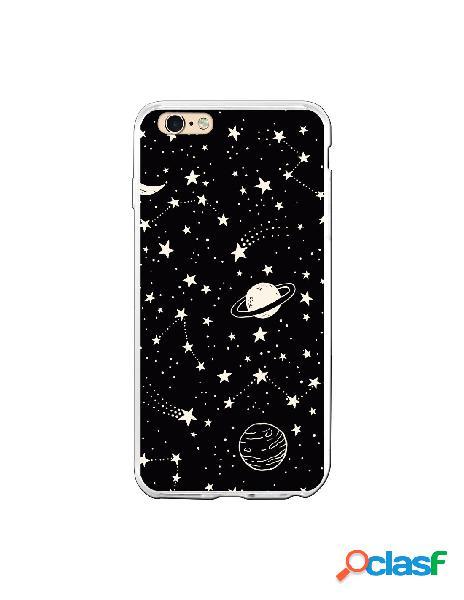 Carcasa Planetas fondo negro para iPhone 6S Plus
