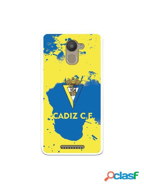 Carcasa para BQ Aquaris U Plus Cádiz CF Manchas Azules -