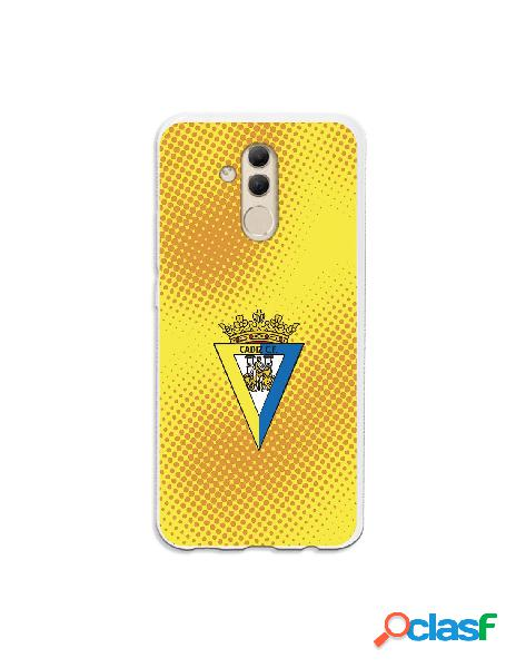 Carcasa para Huawei Mate 20 Lite Cádiz CF Semitono Puntos -