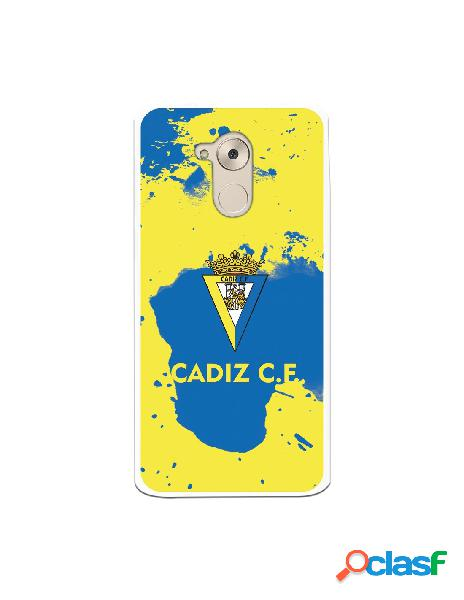 Carcasa para Huawei Nova Smart Cádiz CF Manchas Azules -