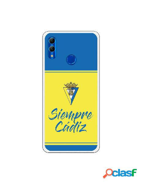 Carcasa para Huawei P Smart 2019 Cádiz CF Fondo Azul y