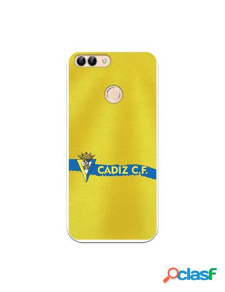 Carcasa para Huawei P Smart Cádiz CF Textura sobre Amarillo