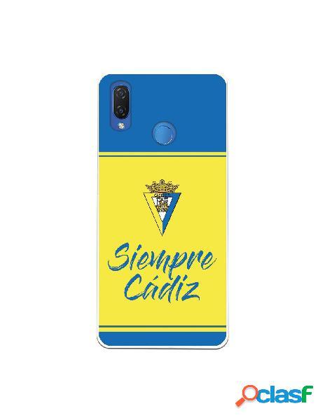 Carcasa para Huawei P Smart Plus Cádiz CF Fondo Azul y