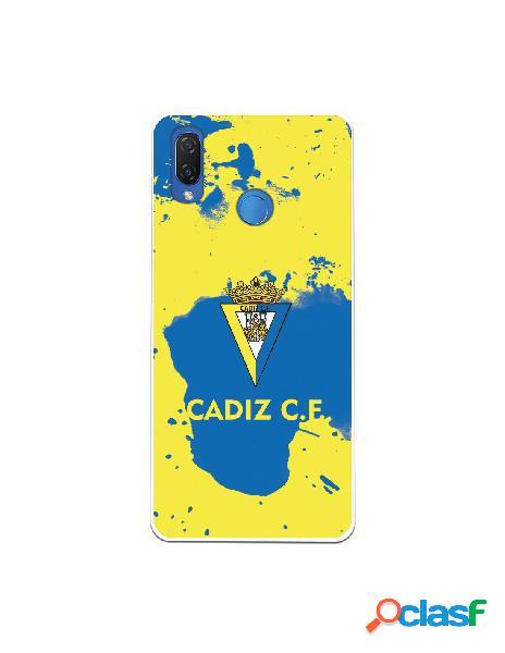 Carcasa para Huawei P Smart Plus Cádiz CF Manchas Azules -