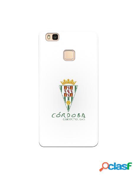 Carcasa para Huawei P9 Lite Córdoba CF Fondo Blanco -