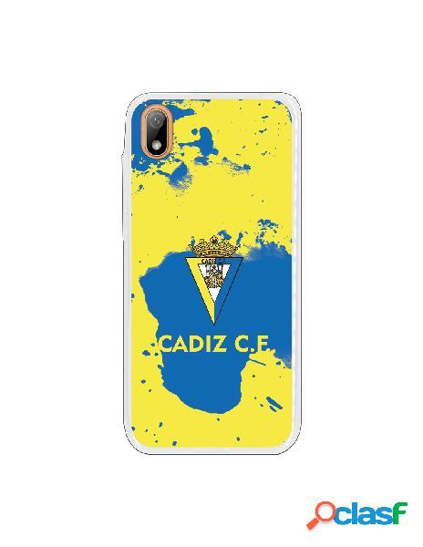 Carcasa para Huawei Y5 2019 Cádiz CF Manchas Azules -