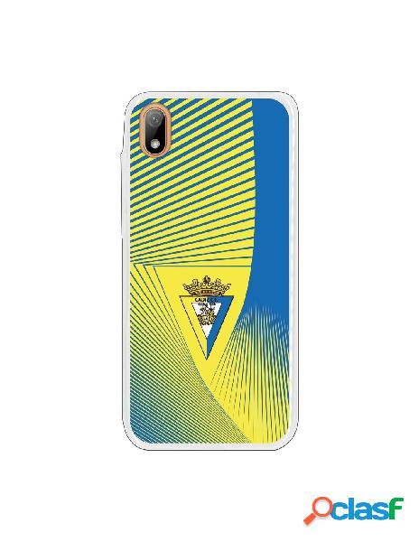 Carcasa para Huawei Y5 2019 Cádiz CF Motivo Lineal -