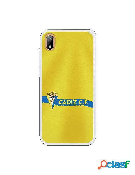 Carcasa para Huawei Y5 2019 Cádiz CF Textura sobre Amarillo