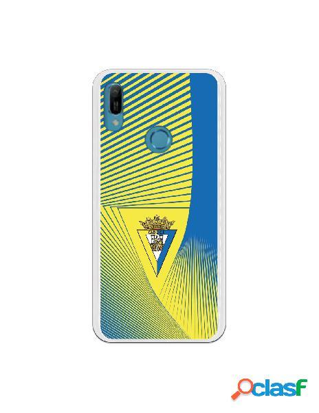 Carcasa para Huawei Y6 2019 Cádiz CF Motivo Lineal -