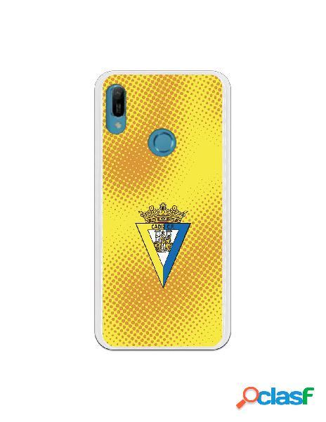 Carcasa para Huawei Y6 2019 Cádiz CF Semitono Puntos -