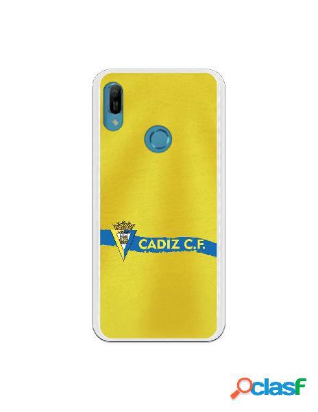 Carcasa para Huawei Y6 2019 Cádiz CF Textura sobre Amarillo