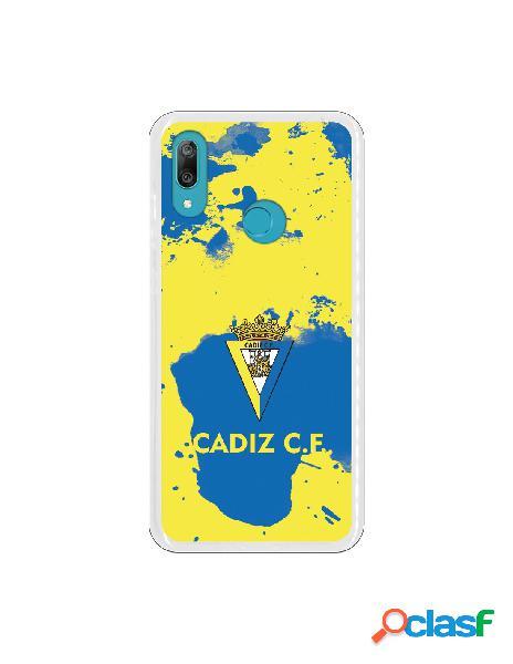 Carcasa para Huawei Y7 2019 Cádiz CF Manchas Azules -
