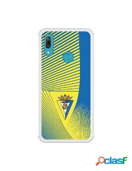 Carcasa para Huawei Y7 2019 Cádiz CF Motivo Lineal -