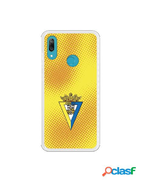 Carcasa para Huawei Y7 2019 Cádiz CF Semitono Puntos -