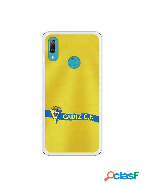 Carcasa para Huawei Y7 2019 Cádiz CF Textura sobre Amarillo