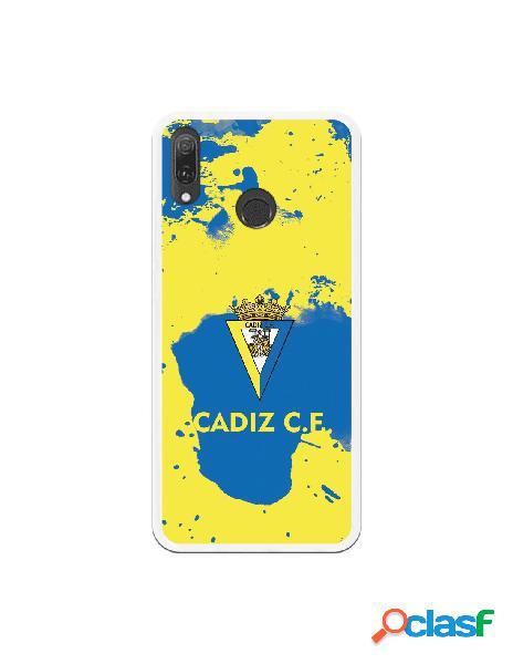 Carcasa para Huawei Y9 2019 Cádiz CF Manchas Azules -