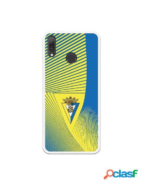 Carcasa para Huawei Y9 2019 Cádiz CF Motivo Lineal -