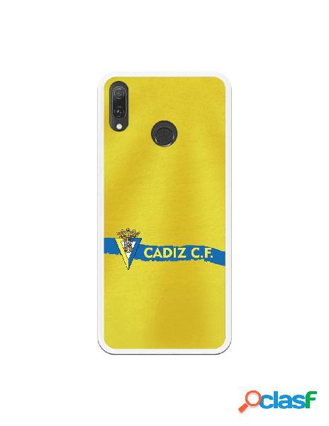 Carcasa para Huawei Y9 2019 Cádiz CF Textura sobre Amarillo
