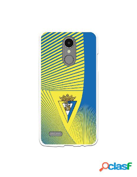 Carcasa para LG K8 2017 Cádiz CF Motivo Lineal - Licencia
