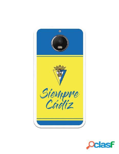 Carcasa para Motorola Moto G5s Plus Cádiz CF Fondo Azul y