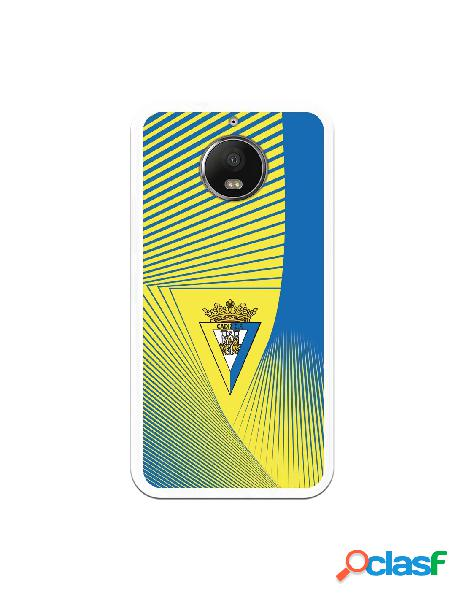 Carcasa para Motorola Moto G5s Plus Cádiz CF Motivo Lineal