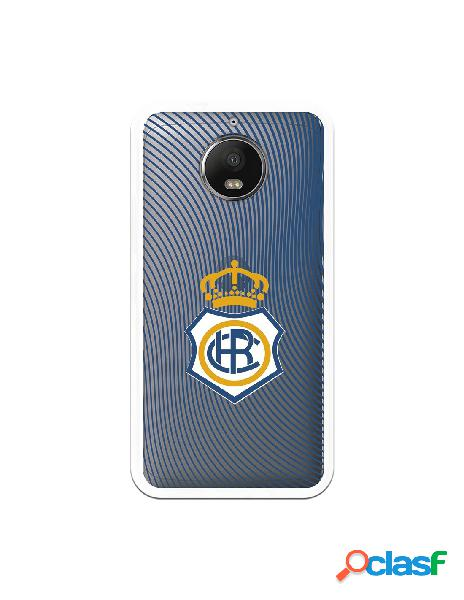 Carcasa para Motorola Moto G5s Plus Recre Onda Azul