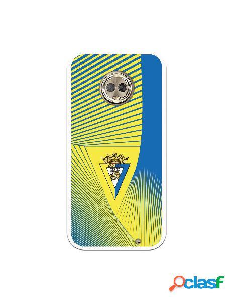 Carcasa para Motorola Moto G6 Plus Cádiz CF Motivo Lineal -