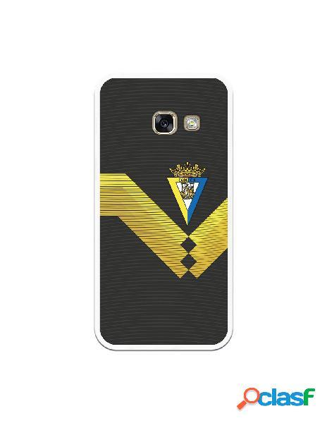 Carcasa para Samsung Galaxy A3 2017 Cádiz CF Fondo Negro -