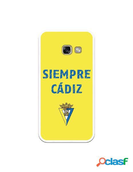 Carcasa para Samsung Galaxy A3 2017 Cádiz CF Siempre