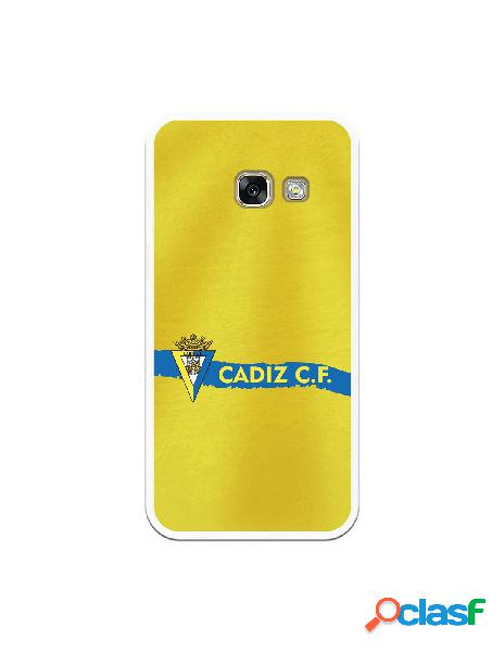 Carcasa para Samsung Galaxy A3 2017 Cádiz CF Textura sobre