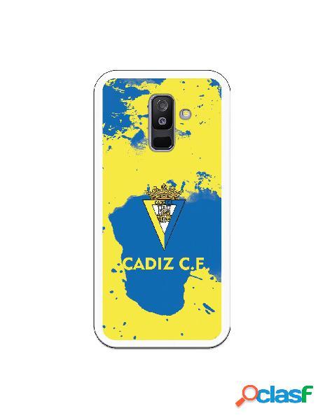 Carcasa para Samsung Galaxy A6 Plus 2018 Cádiz CF Manchas