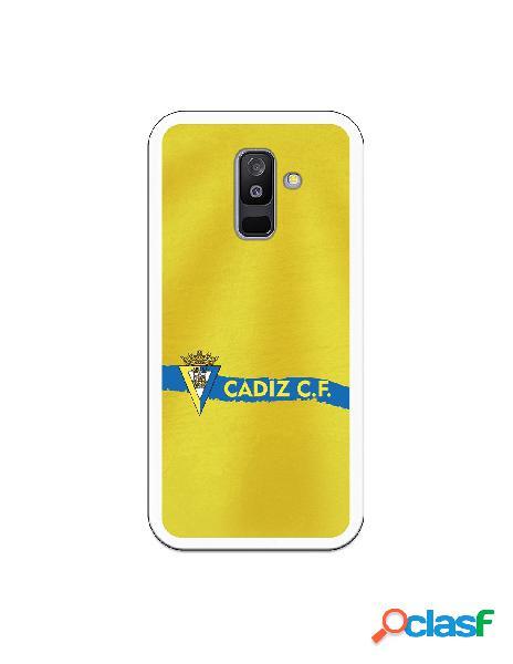 Carcasa para Samsung Galaxy A6 Plus 2018 Cádiz CF Textura