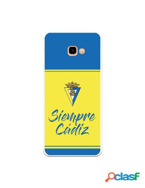 Carcasa para Samsung Galaxy J4 Plus Cádiz CF Fondo Azul y