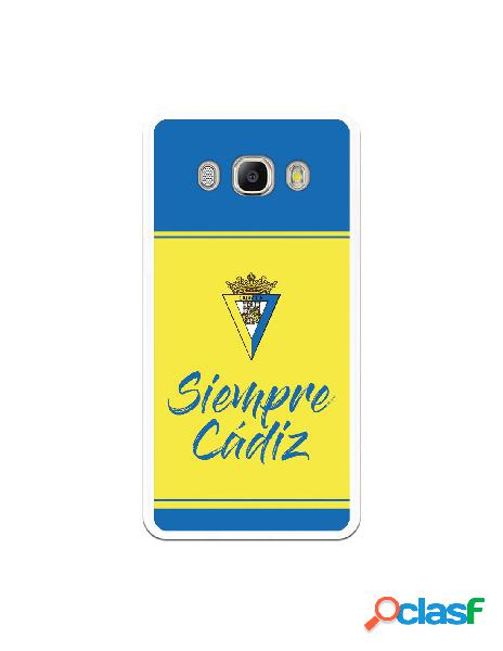 Carcasa para Samsung Galaxy J5 2016 Cádiz CF Fondo Azul y