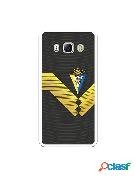 Carcasa para Samsung Galaxy J5 2016 Cádiz CF Fondo Negro -
