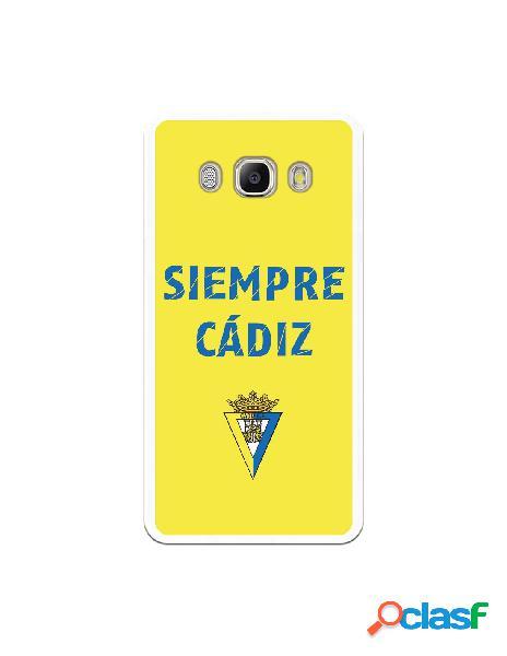 Carcasa para Samsung Galaxy J5 2016 Cádiz CF Siempre