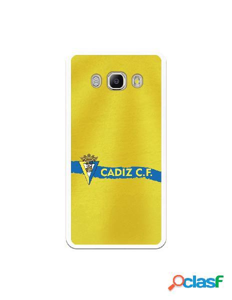 Carcasa para Samsung Galaxy J5 2016 Cádiz CF Textura sobre