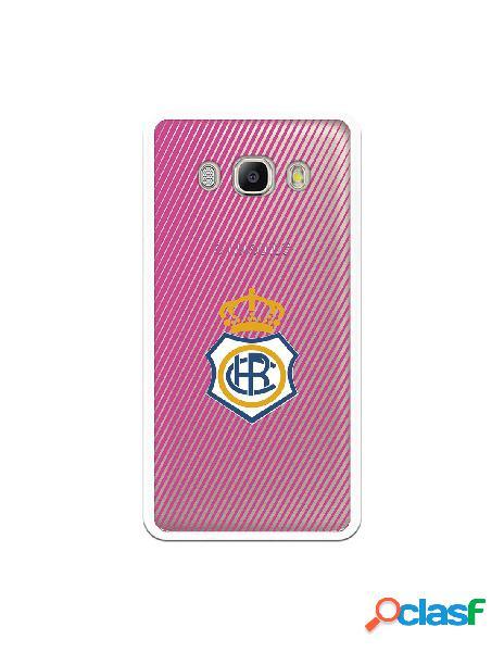 Carcasa para Samsung Galaxy J5 2016 Recre Rosa Transparente