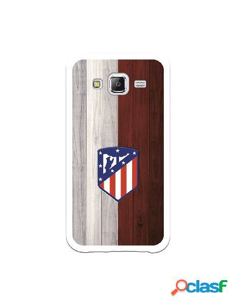 Carcasa para Samsung Galaxy J5 Atlético de Madrid Madera -