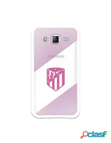 Carcasa para Samsung Galaxy J5 Atlético de Madrid Rosa