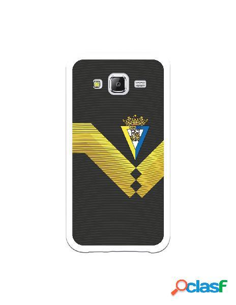 Carcasa para Samsung Galaxy J5 Cádiz CF Fondo Negro -
