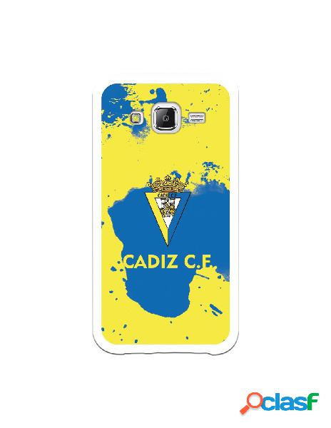 Carcasa para Samsung Galaxy J5 Cádiz CF Manchas Azules -