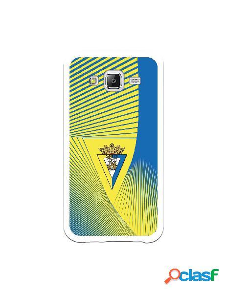 Carcasa para Samsung Galaxy J5 Cádiz CF Motivo Lineal -
