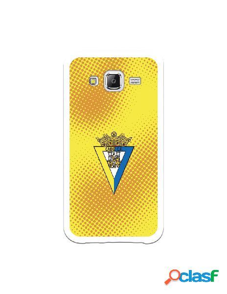 Carcasa para Samsung Galaxy J5 Cádiz CF Semitono Puntos -