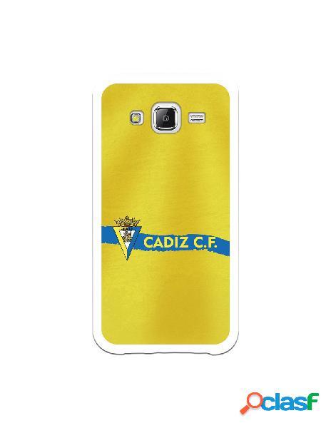 Carcasa para Samsung Galaxy J5 Cádiz CF Textura sobre