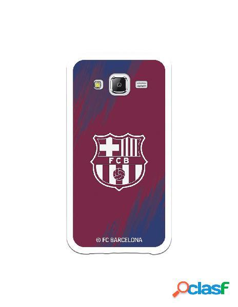 Carcasa para Samsung Galaxy J5 FC Barcelona Escudo Blanco