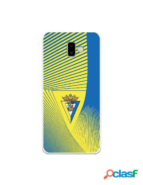 Carcasa para Samsung Galaxy J6 Plus Cádiz CF Motivo Lineal